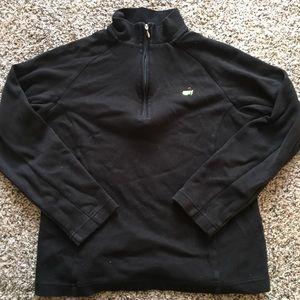 Tops - Masters Black Half Zip Pullover